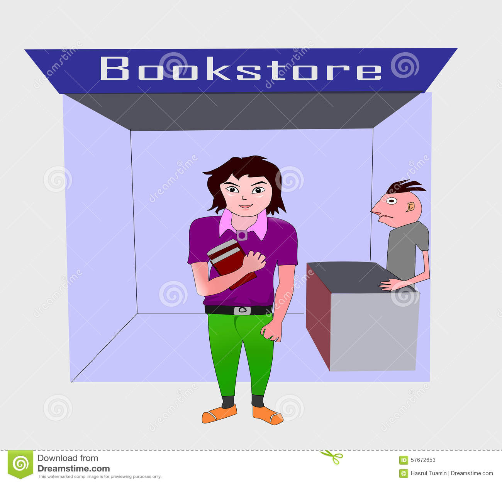 Nastolatek przy bookstore