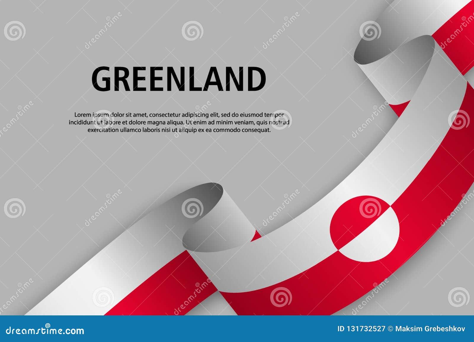 Nastro d ondeggiamento con la bandiera della Groenlandia,