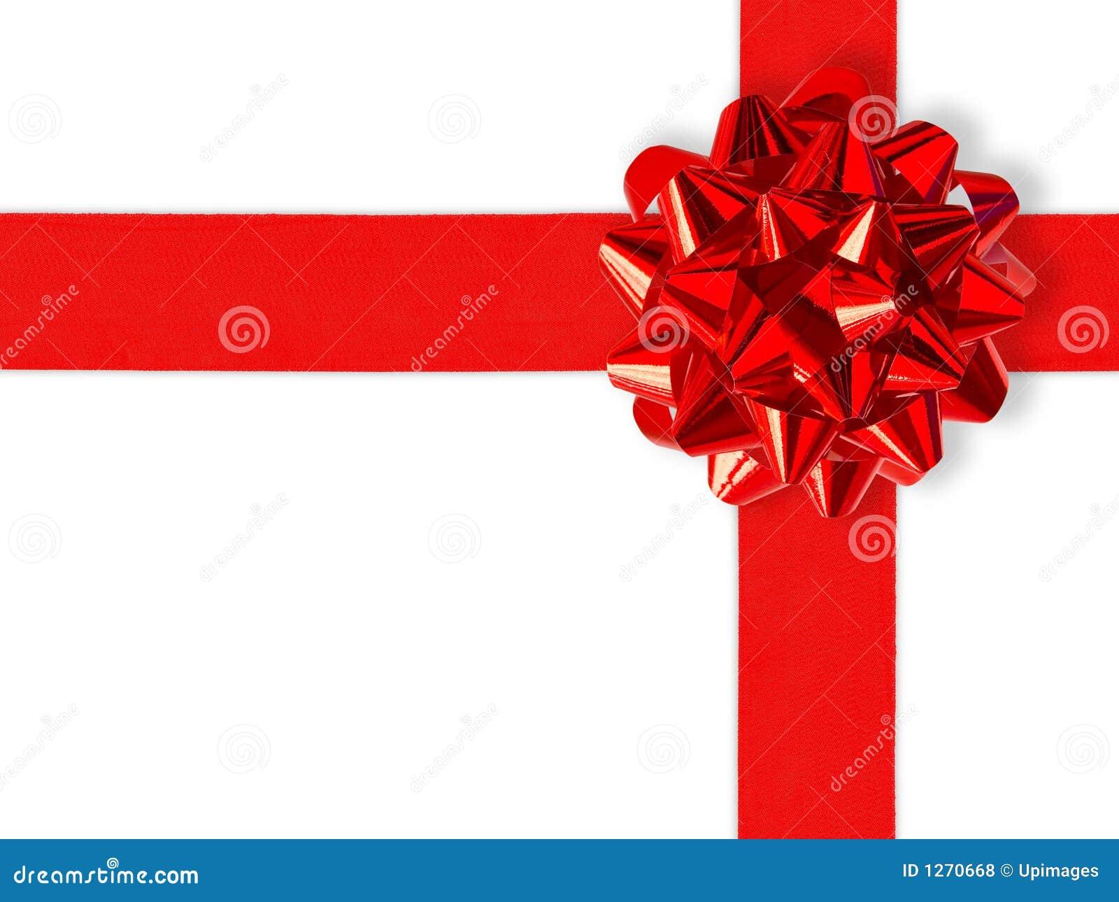 Nastro rosso del regalo sopra bianco fotografie stock - Cinta para regalo ...