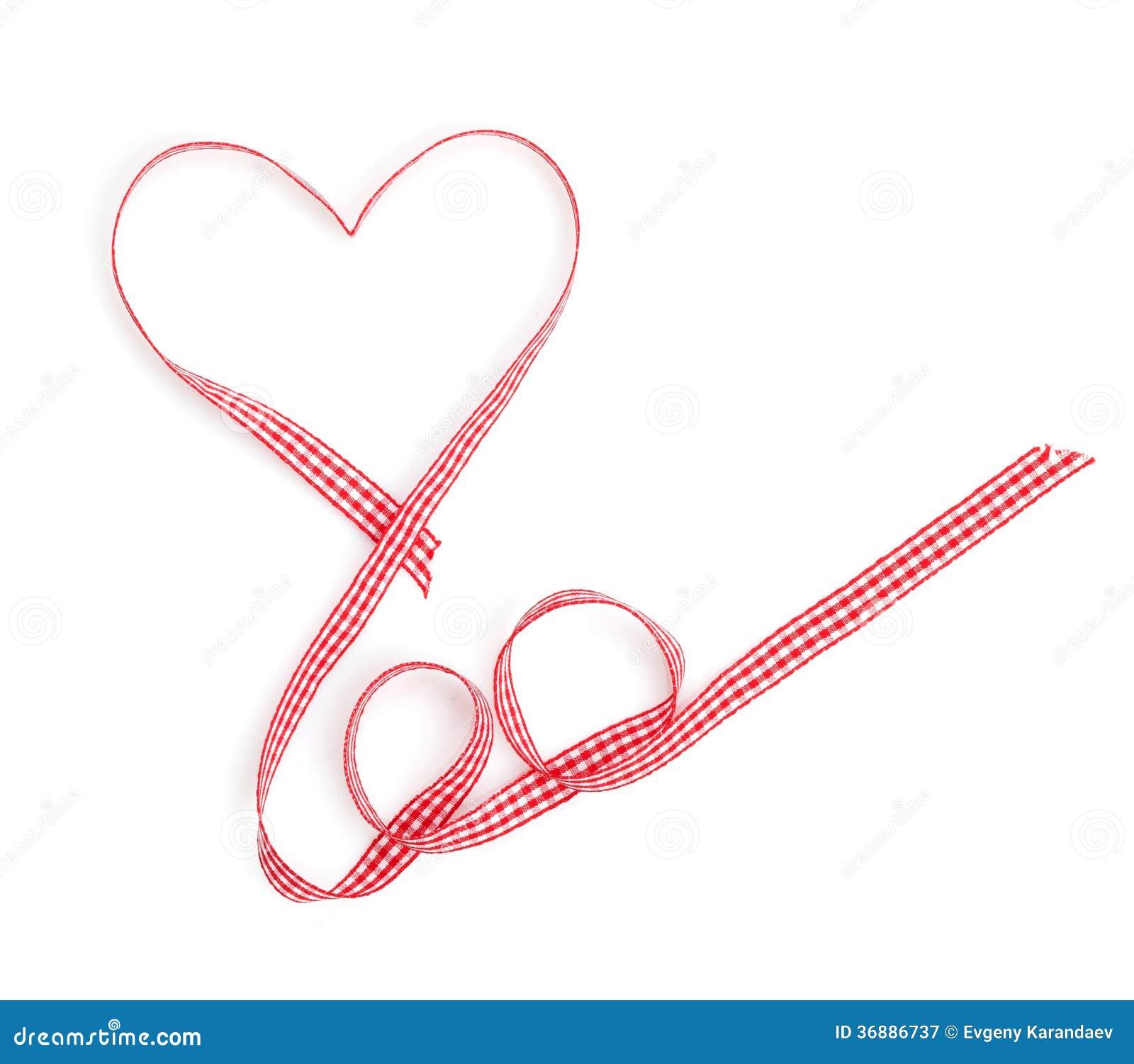 Download Nastro Rosso A Forma Di Del Cuore Di San Valentino Immagine Stock - Immagine di copia, romanzesco: 36886737