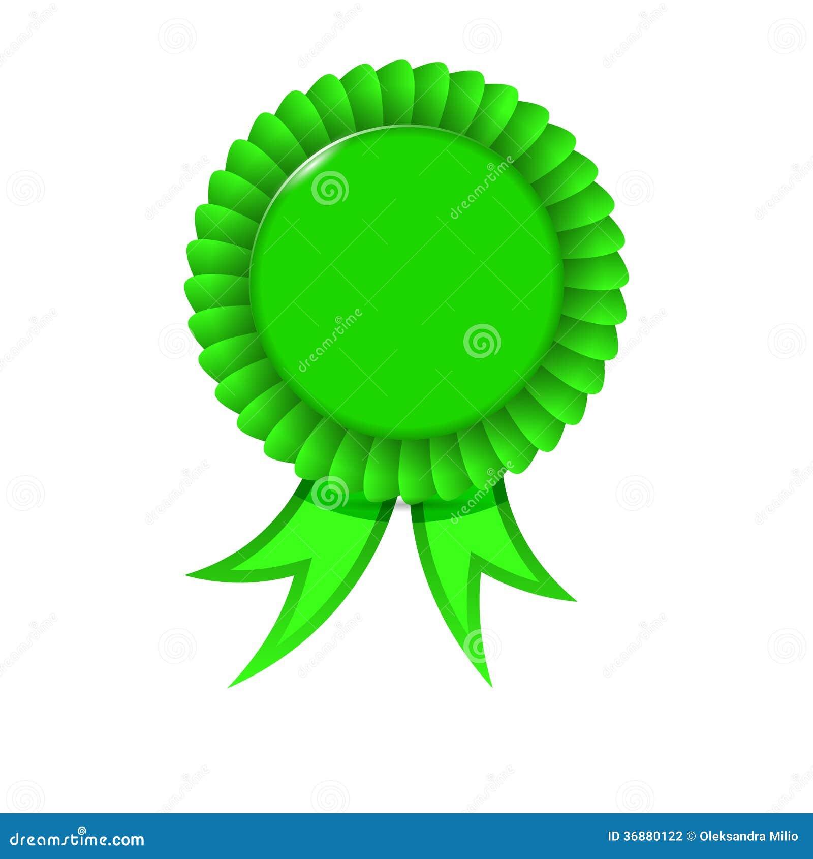 Download Nastro verde del premio illustrazione vettoriale. Illustrazione di first - 36880122