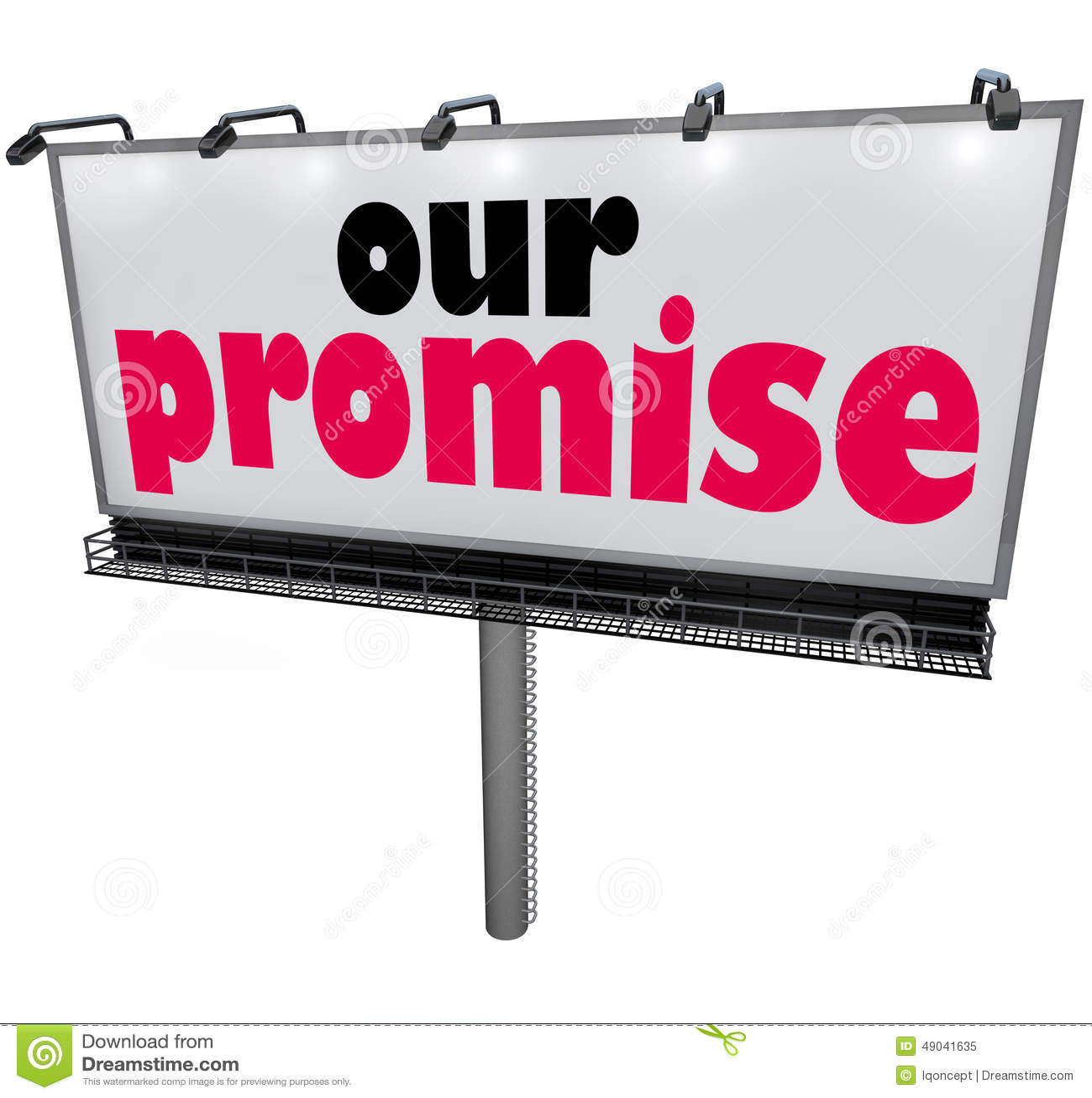 Nasz obietnica billboardu wiadomości reklamy gwaranci ślubowania usługa