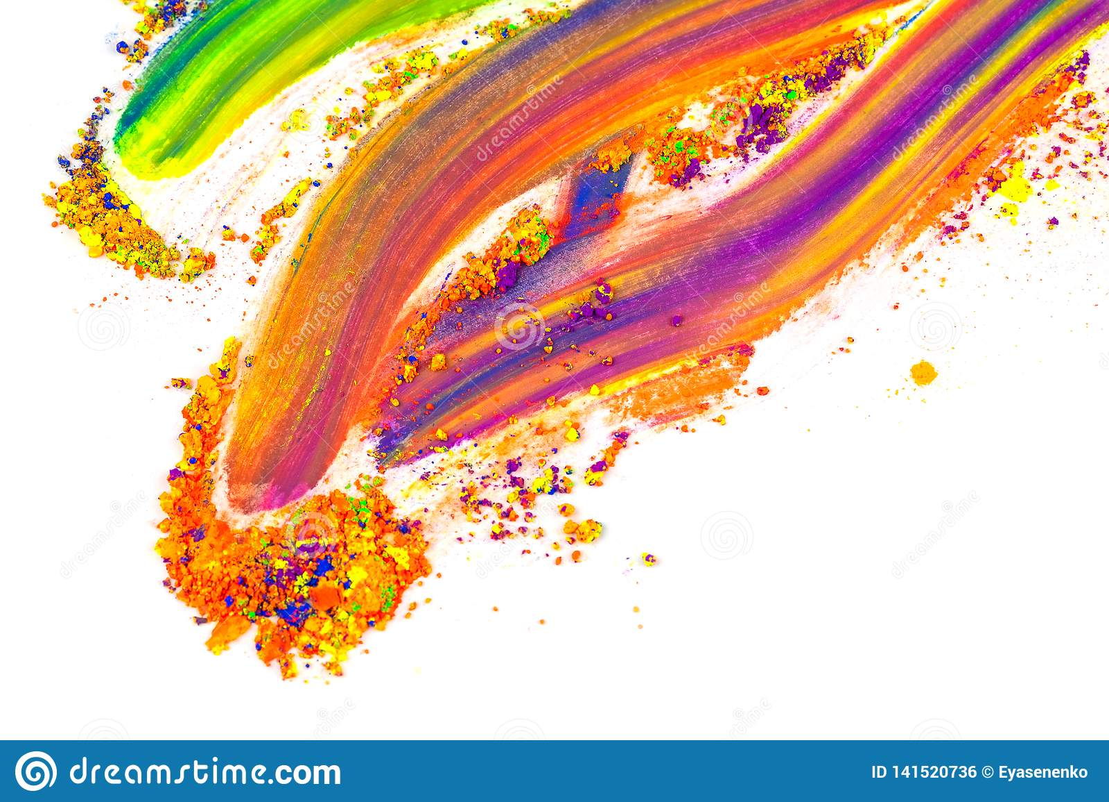 Natürliches farbiges Pigmentpulver Platz für Text