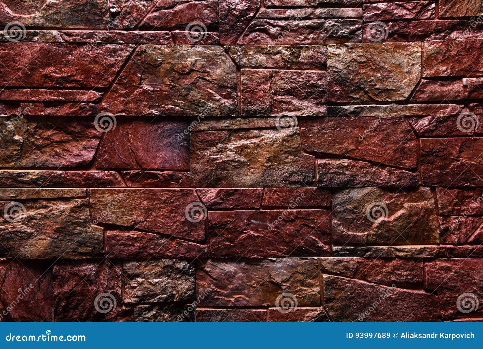 Einfach Steinwand Farbe ~ Natürliche farbe des rotbraunen steinwand