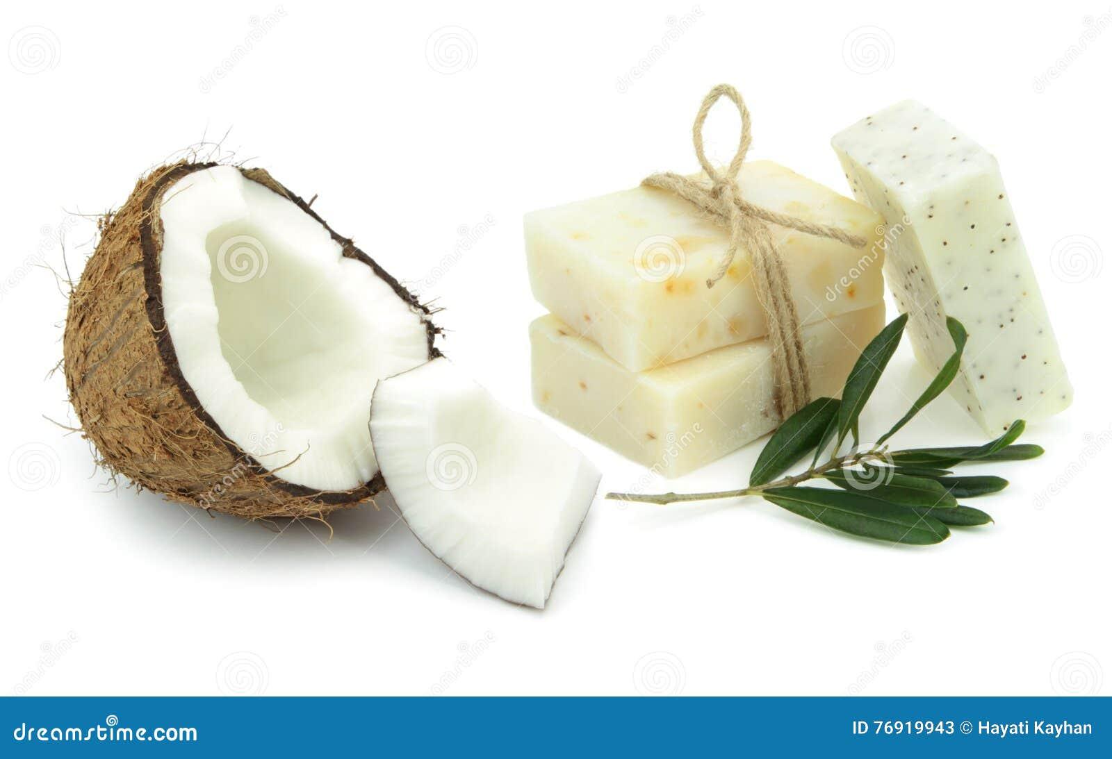 Natürliche Kräuterseifen mit Olive und Kokosnussöl