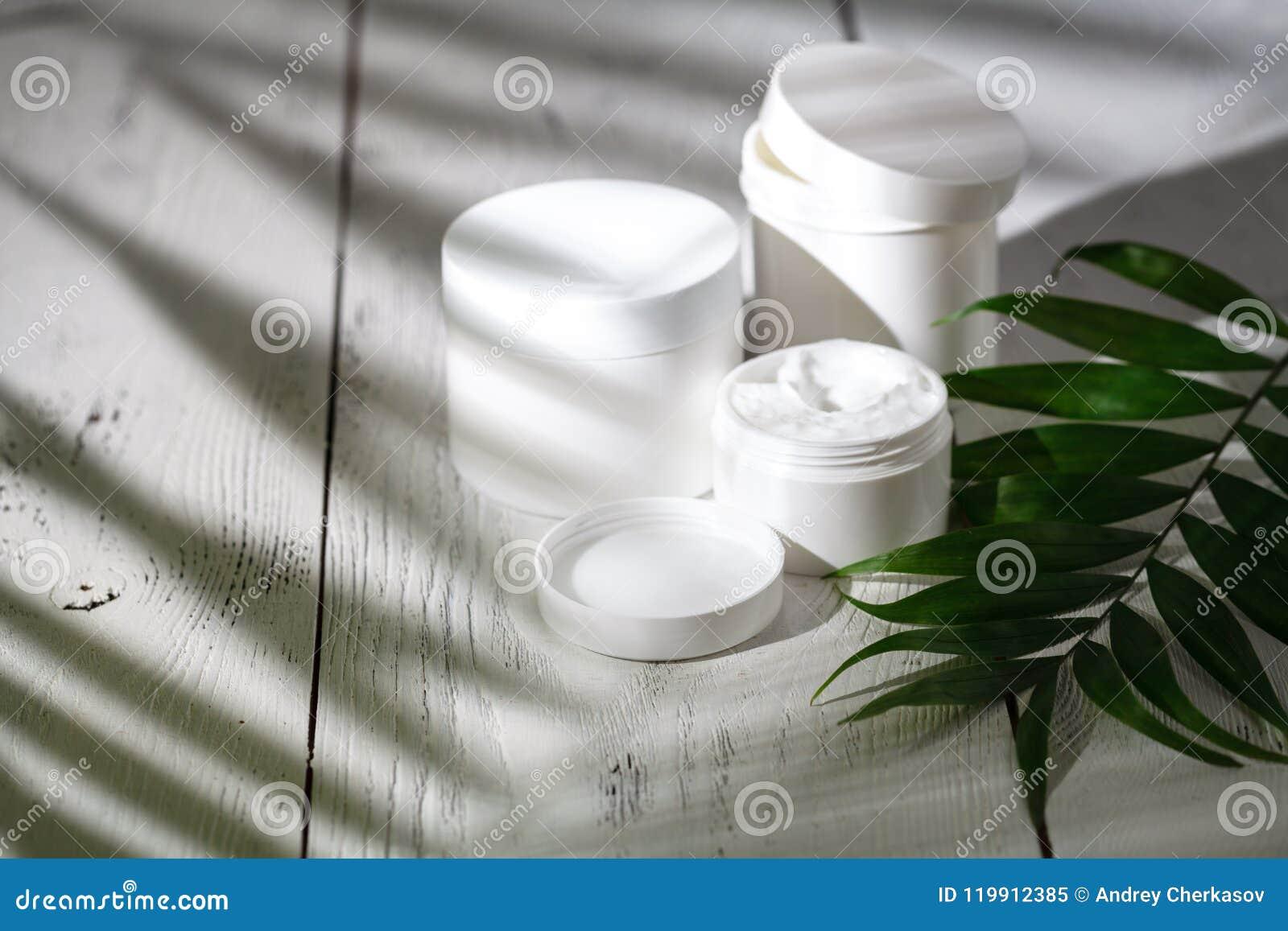 Natürliche organische Kosmetik für Haarpflege Badprodukte, Badezimmersatz