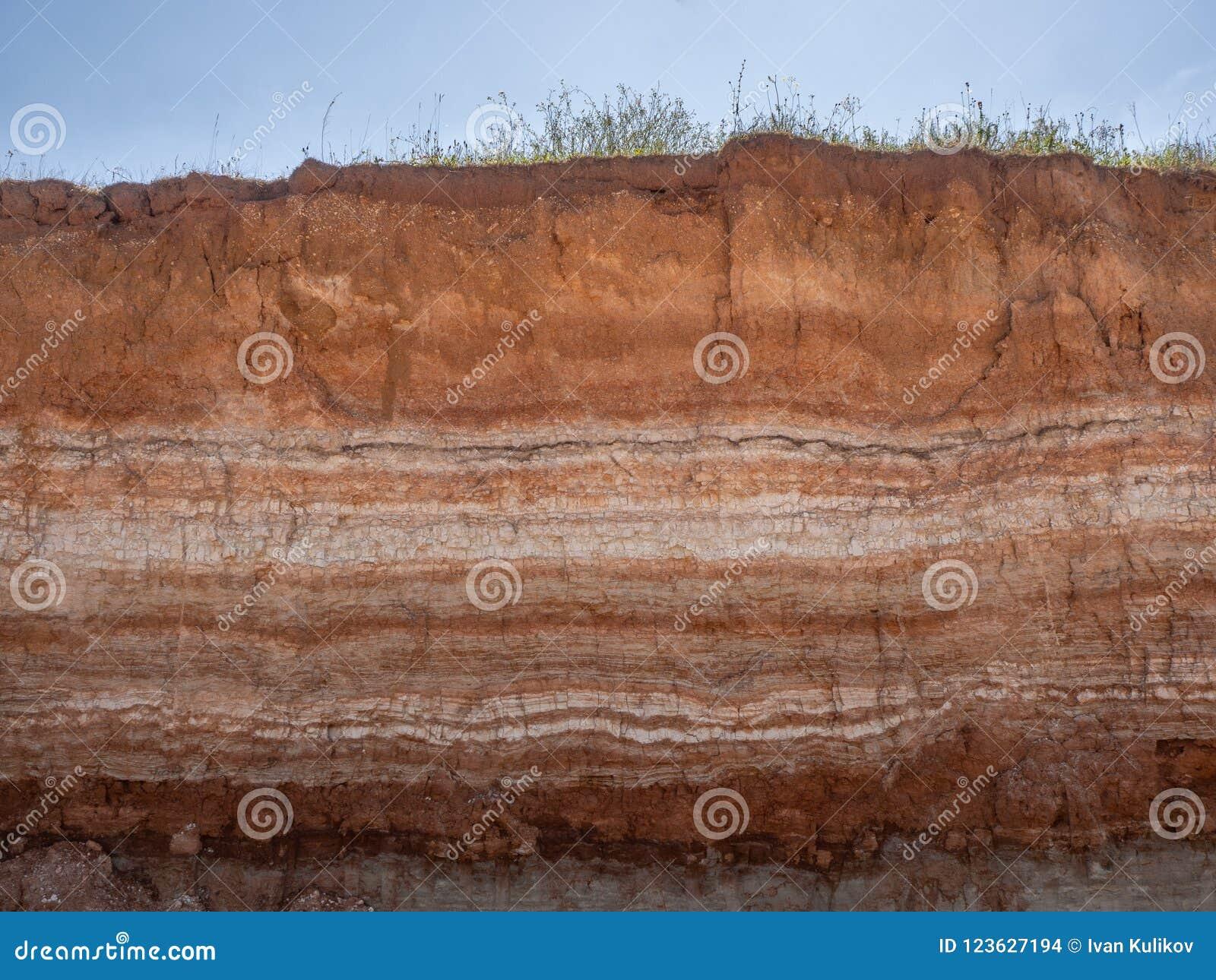 Natürlicher Schnitt des Bodens