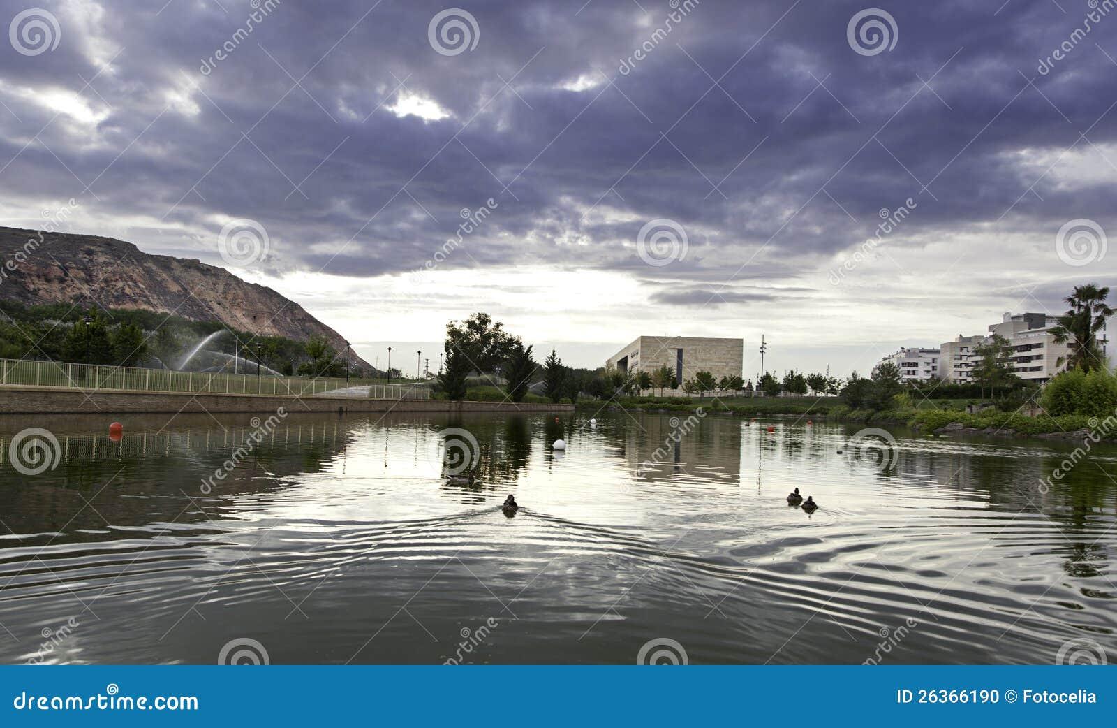 Natürlicher See mit Enten