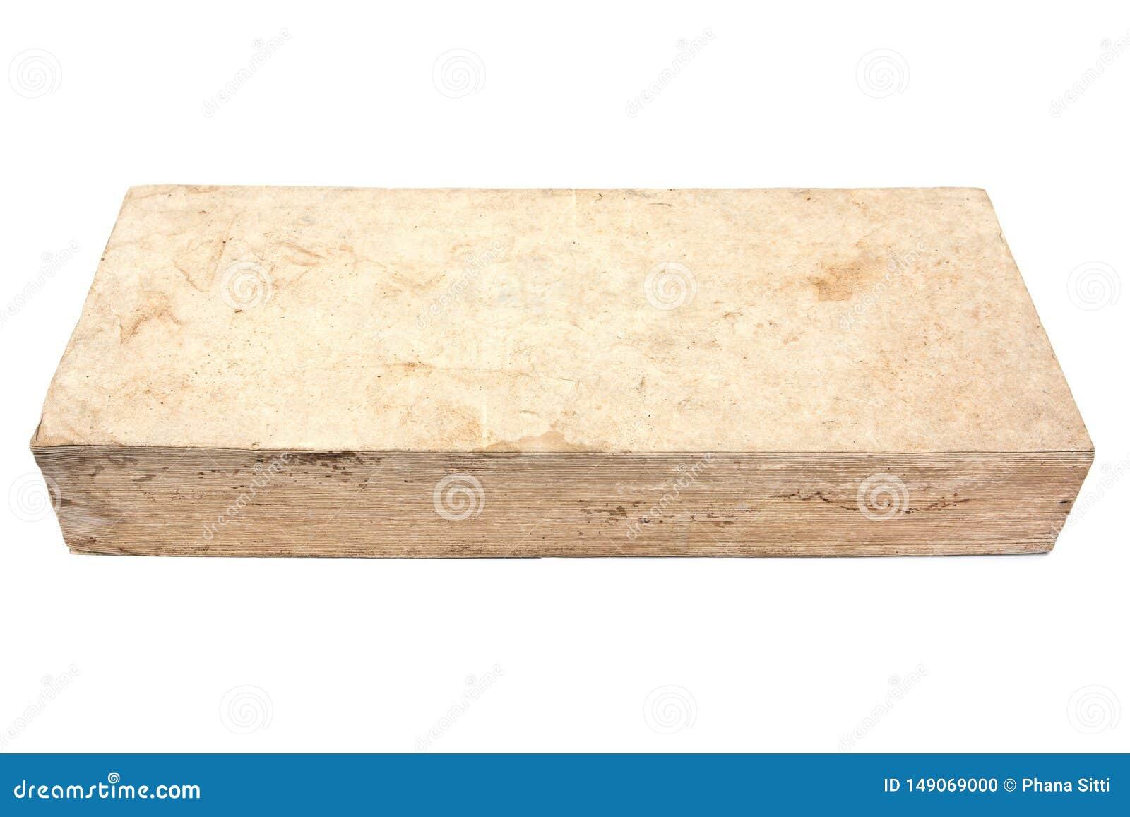 Natürliches altes Buch lokalisiert auf weißem Hintergrund