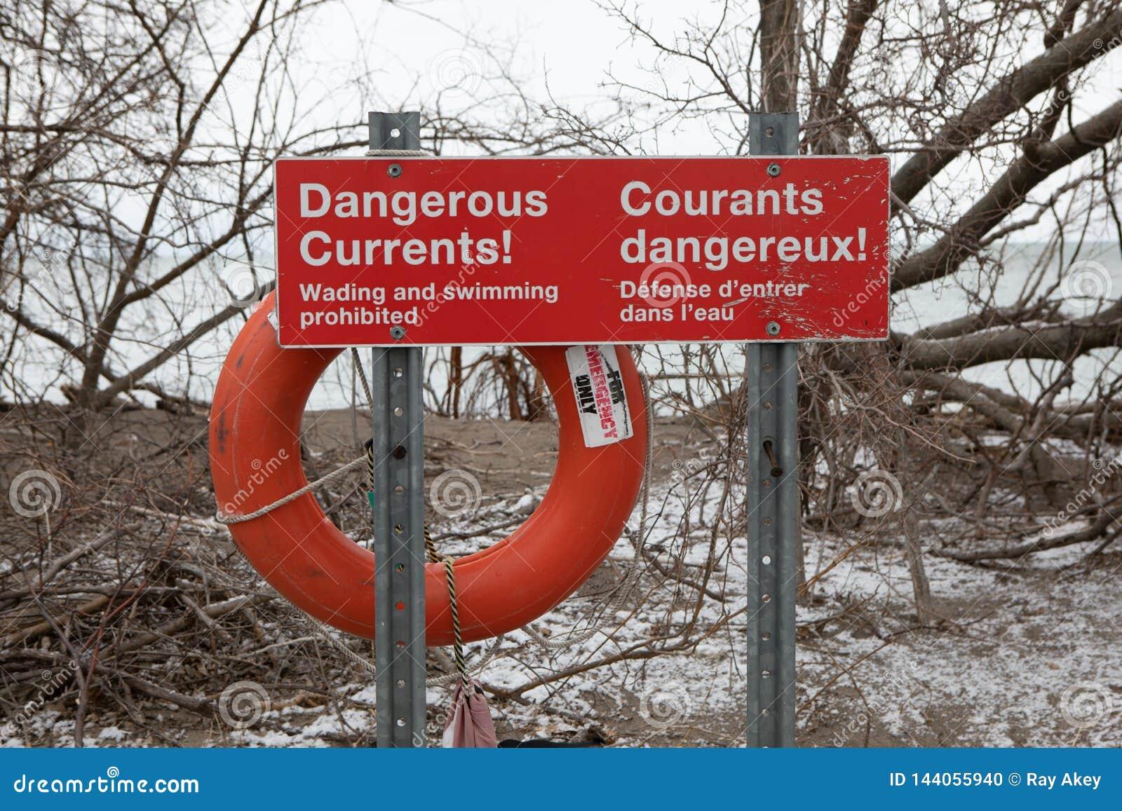 Natación actual peligrosa rectangular de la señal de peligro de la seguridad insegura