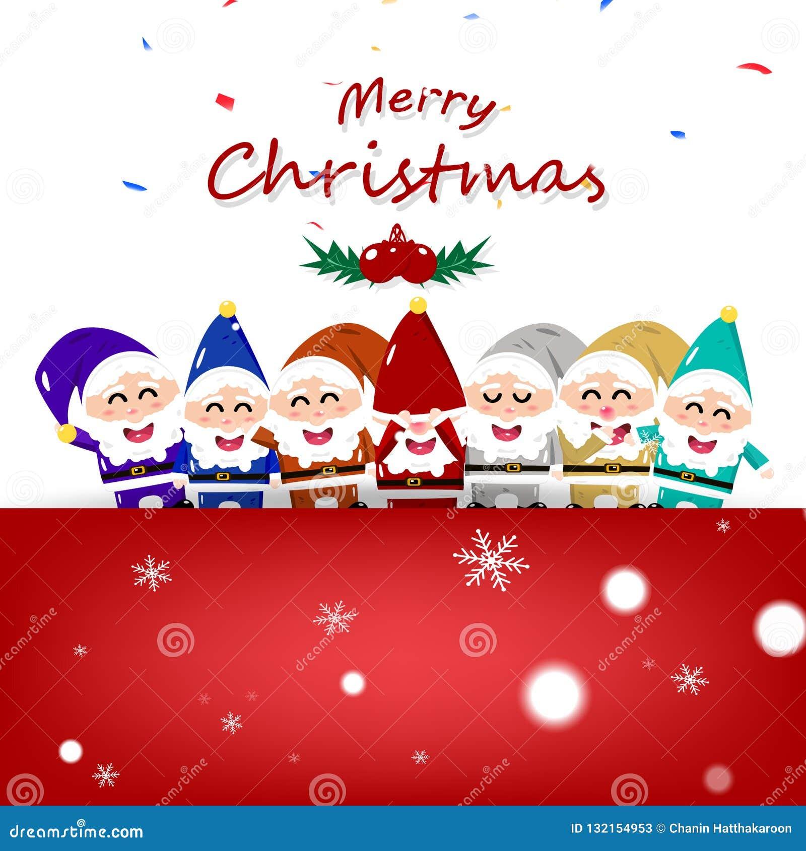 Natal Anao Desenhos Animados Coloridos De Papai Noel Na Estacao