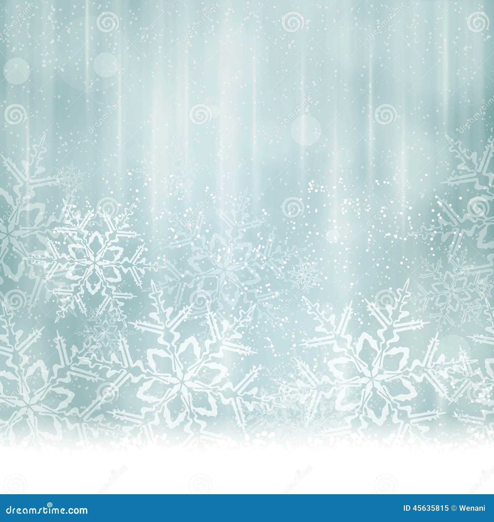Natal azul de prata abstrato, fundo do inverno