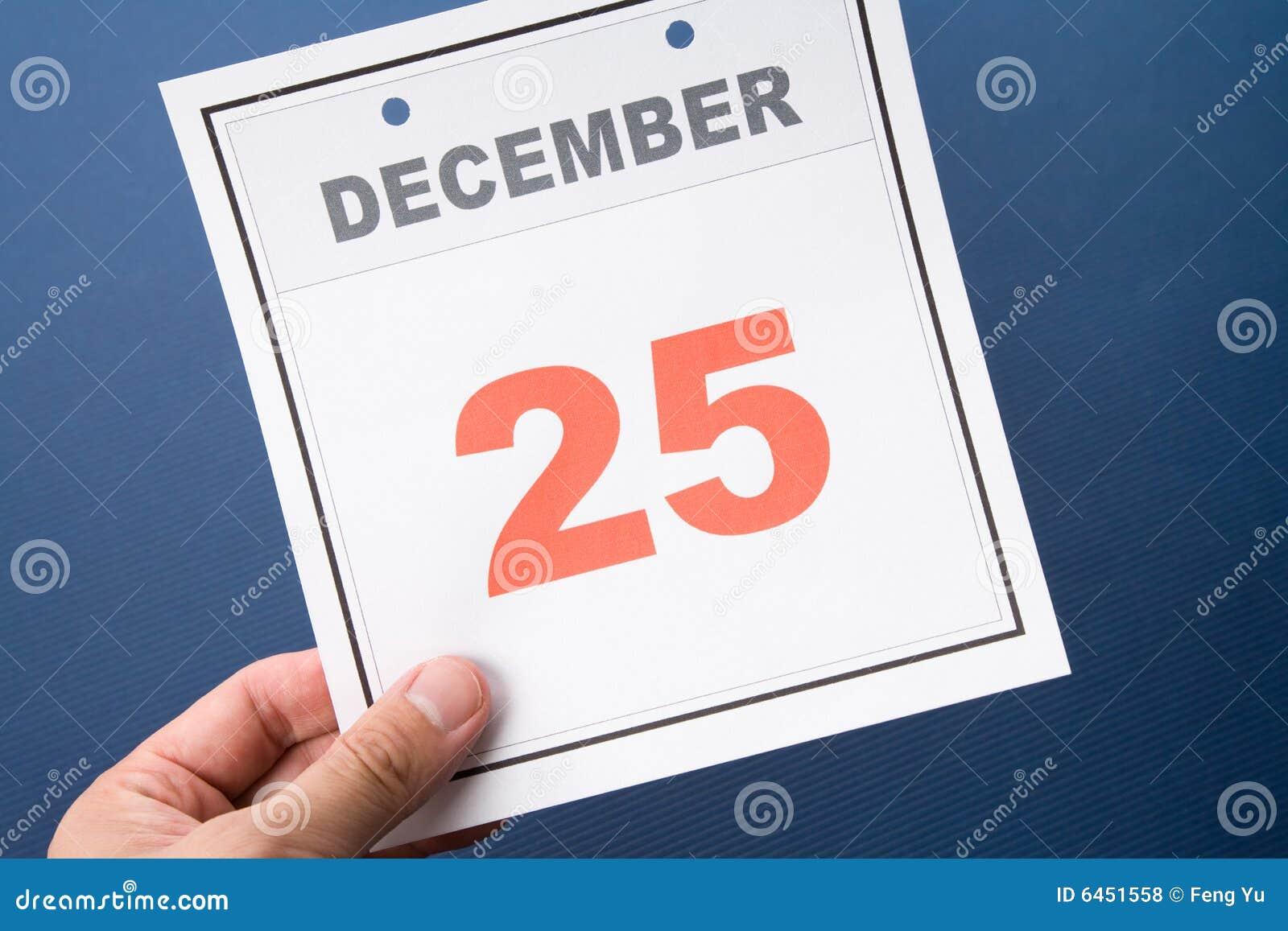 Natal do dia de calendário