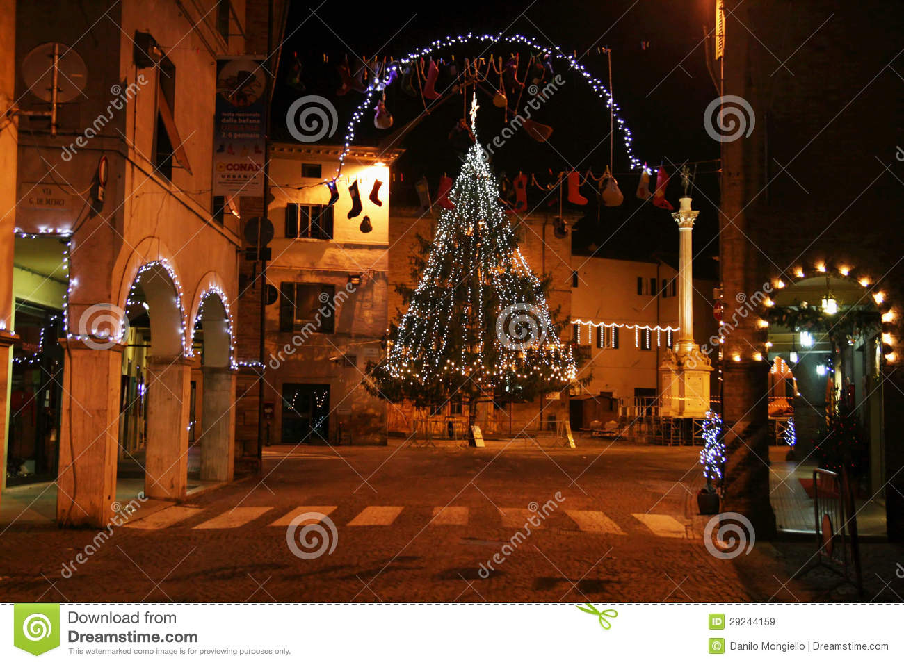 Download Natal no urbania imagem de stock editorial. Imagem de tourism - 29244159