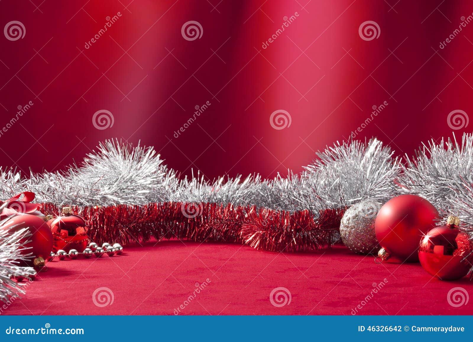 Natal vermelho Tinsel Background