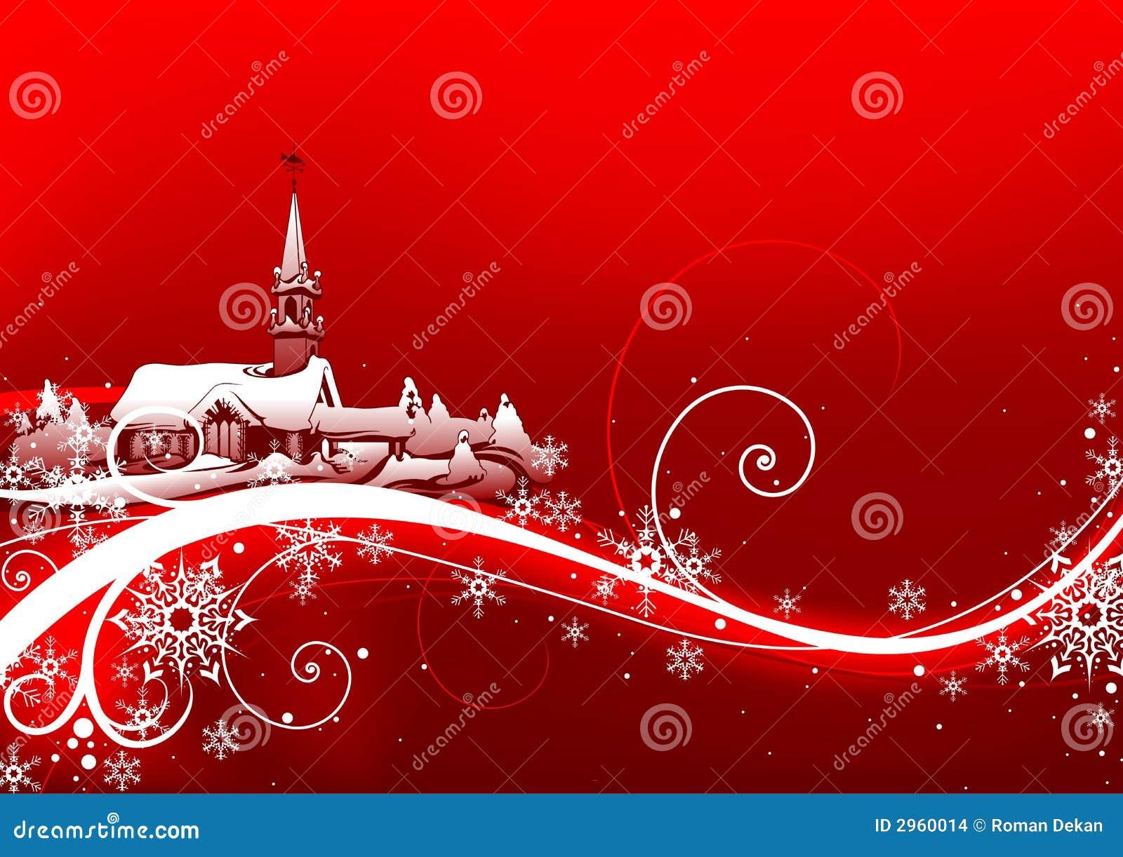 Natale astratto di colore rosso