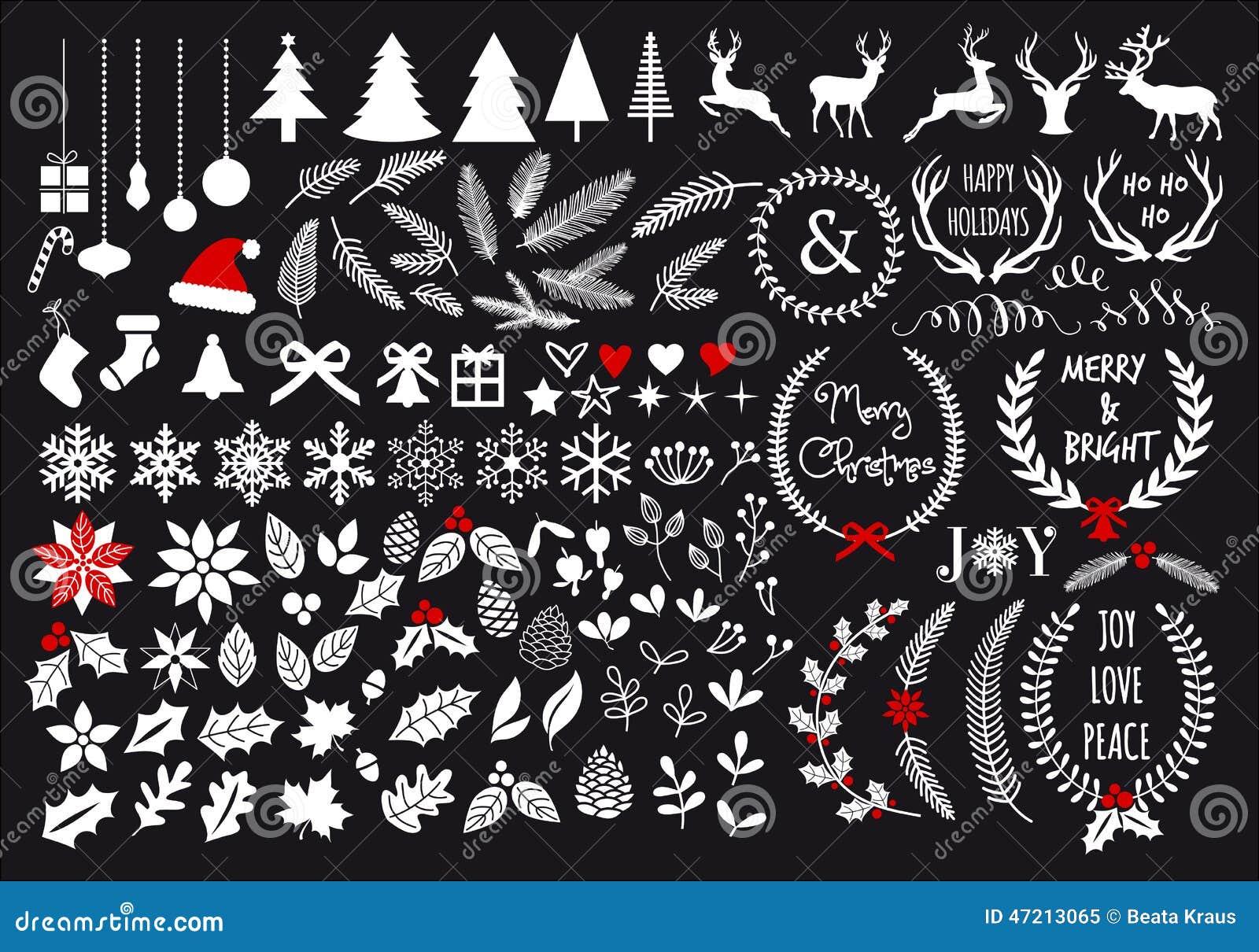 Natale bianco, insieme di vettore