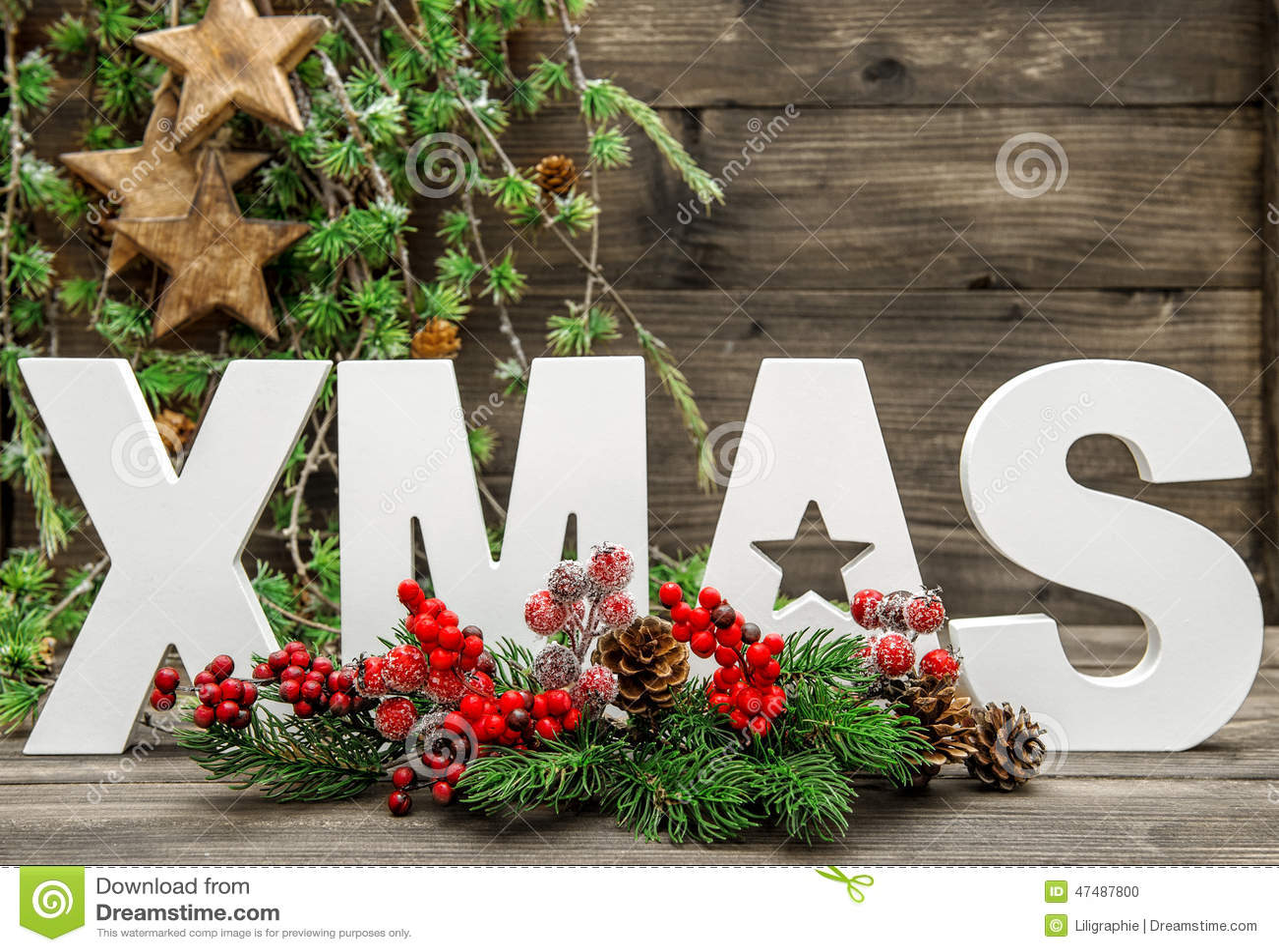 Molto Natale Delle Decorazioni E Della Lettera Di Natale Con I Rami Di  CL51