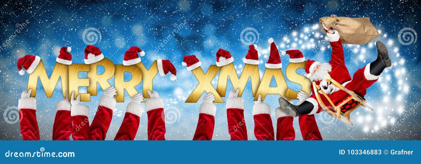 Foto Divertenti Di Buon Natale.Natale Di Buon Natale Che Accoglie Il Babbo Natale Divertente Sulla