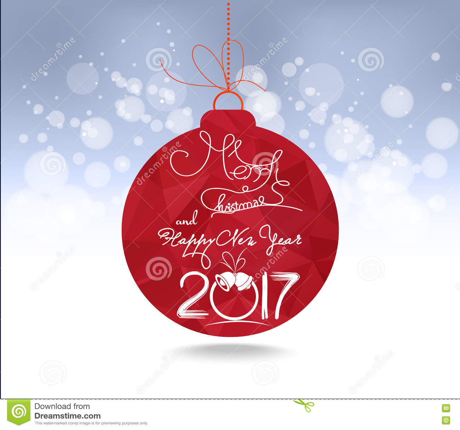 Natale E Cartolina Dauguri Geometrica Rossa Delle Palle Del Buon