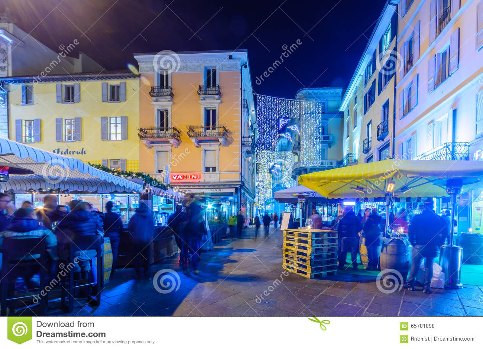 Decorazioni Natalizie Lugano.Natale A Lugano Fotografia Stock Editoriale Immagine Di Costruzione
