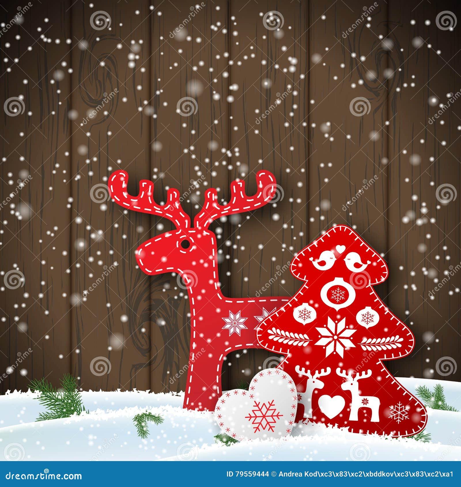 Natale Motore Nelle Decorazioni Pieghe Rosse E Bianche Scandinave ...