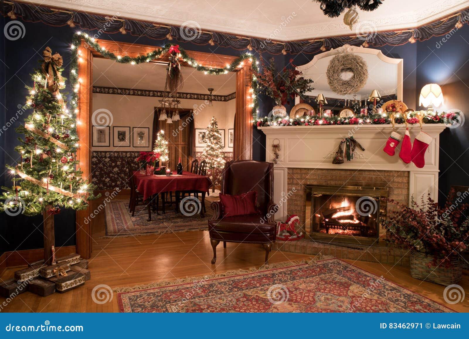 Immagini Natale Vittoriano.Natale Vittoriano Interno Immagine Stock Immagine Di Hardwood