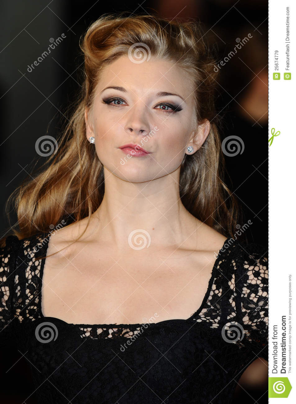 Natalie Dormer arriving for the premiere of W.E. at the Odeon ...