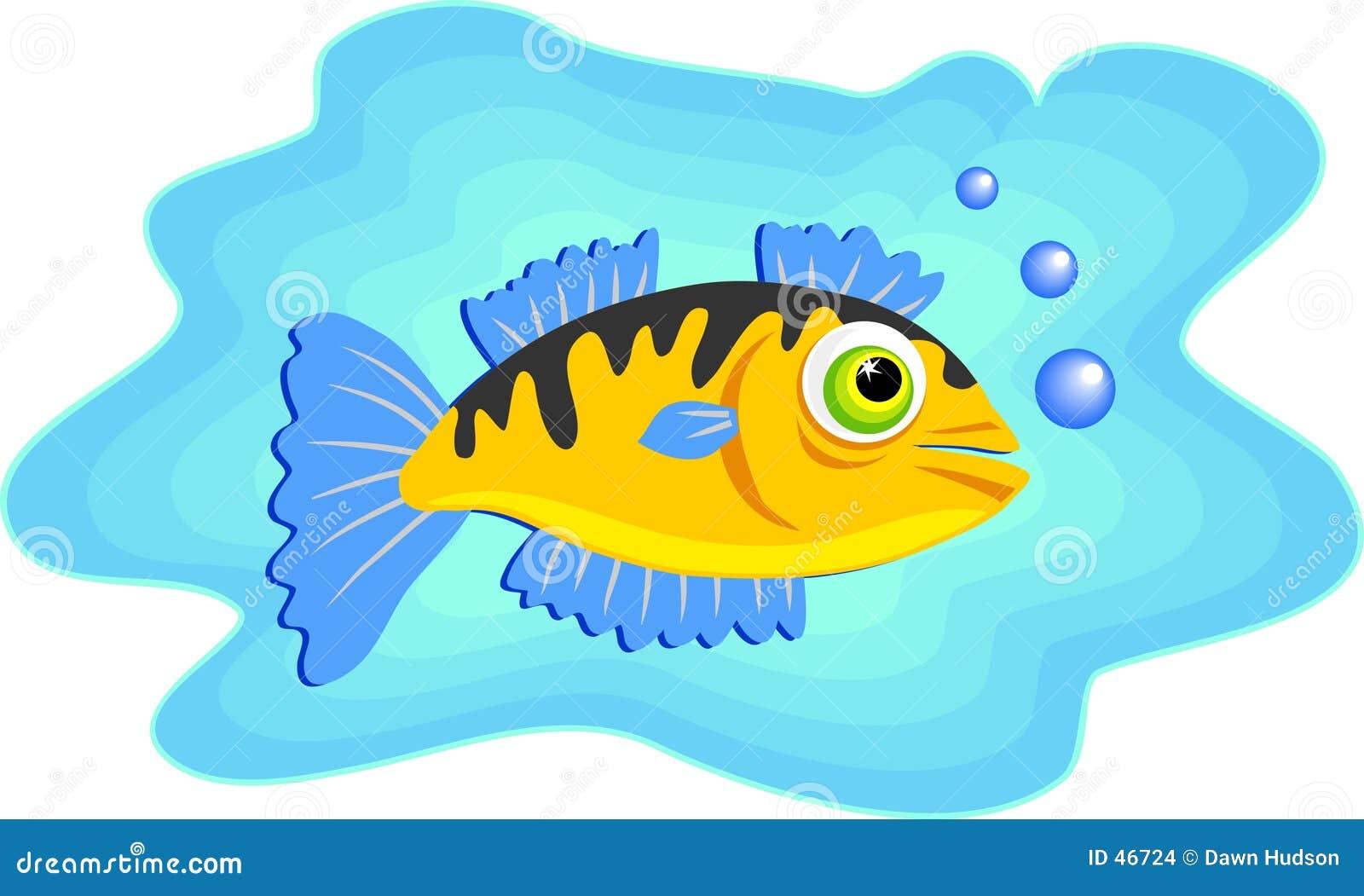 Natation de poissons de mer