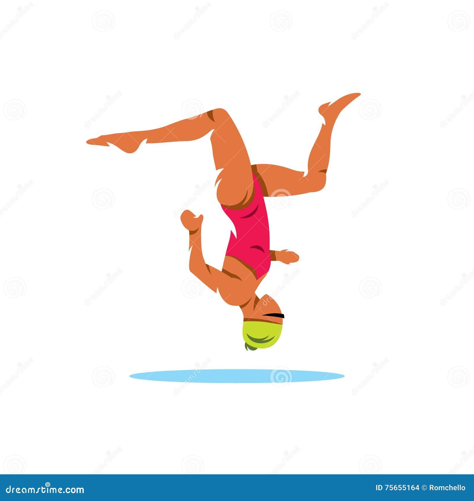 Natation synchronis e illustration de dessin anim de vecteur illustration de vecteur image - Dessin natation ...