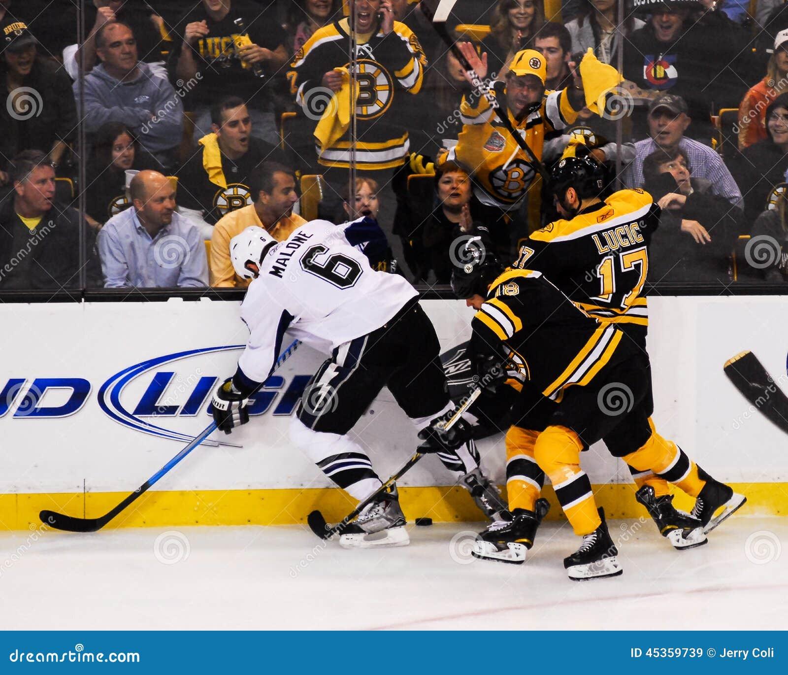 Nathan Horton et Milan Lucic, Boston Bruins
