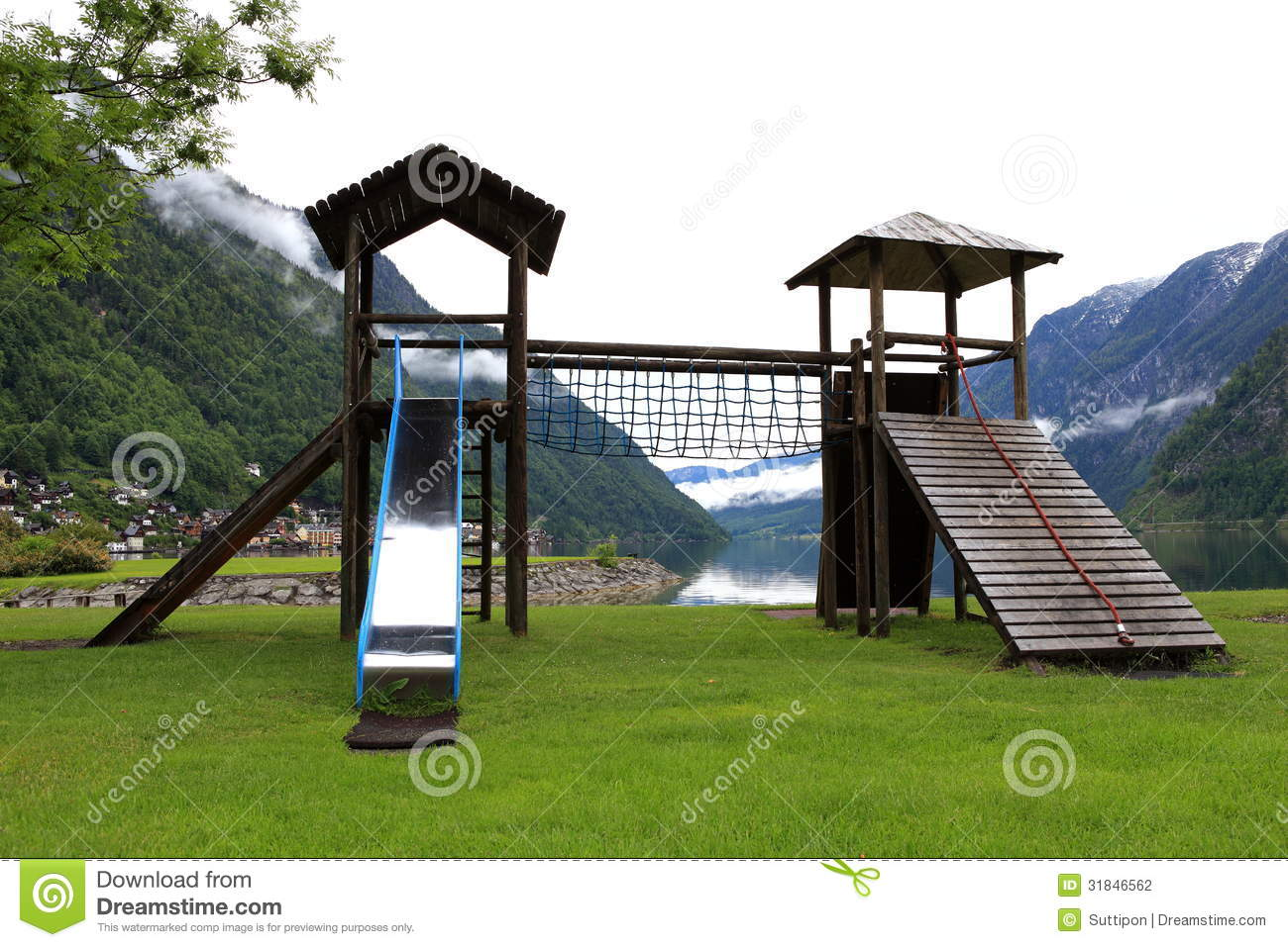 The Nation Children Playground On Park Stock Photography ...