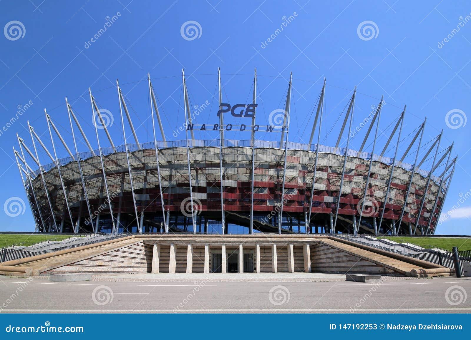 Nationaal stadion in Warshau