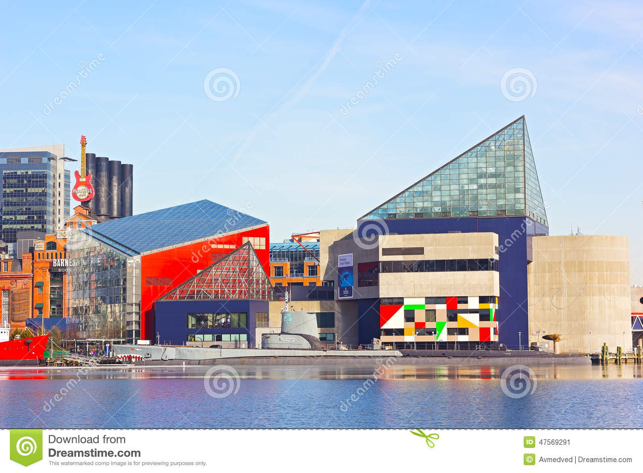National Aquarium In Baltimore Inner Harbor In Winter Editorial Photo - Image: 47569291