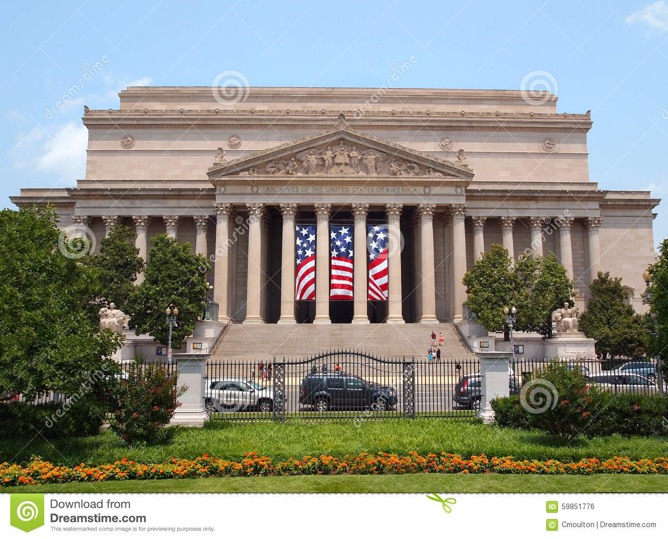 National Archives Building Usa Stock Photo Image 59851776