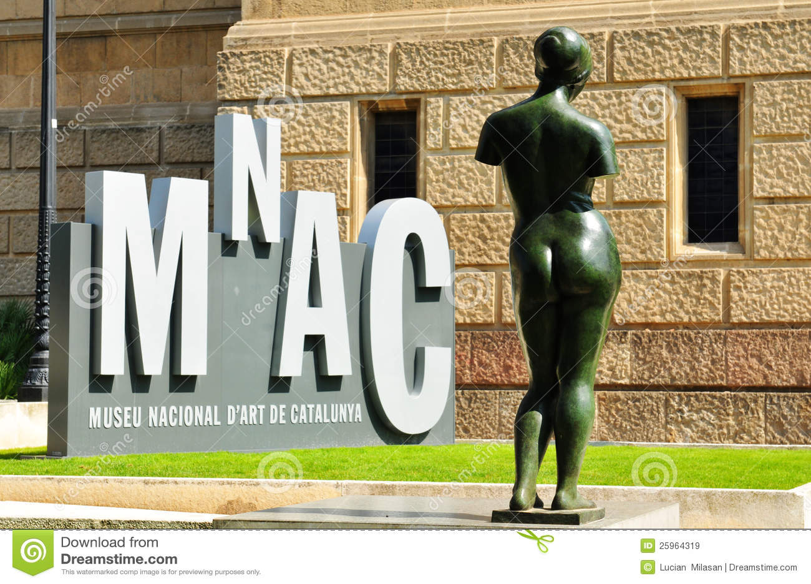 National art museum of catalonia editorial stock image for Artiste peintre catalan