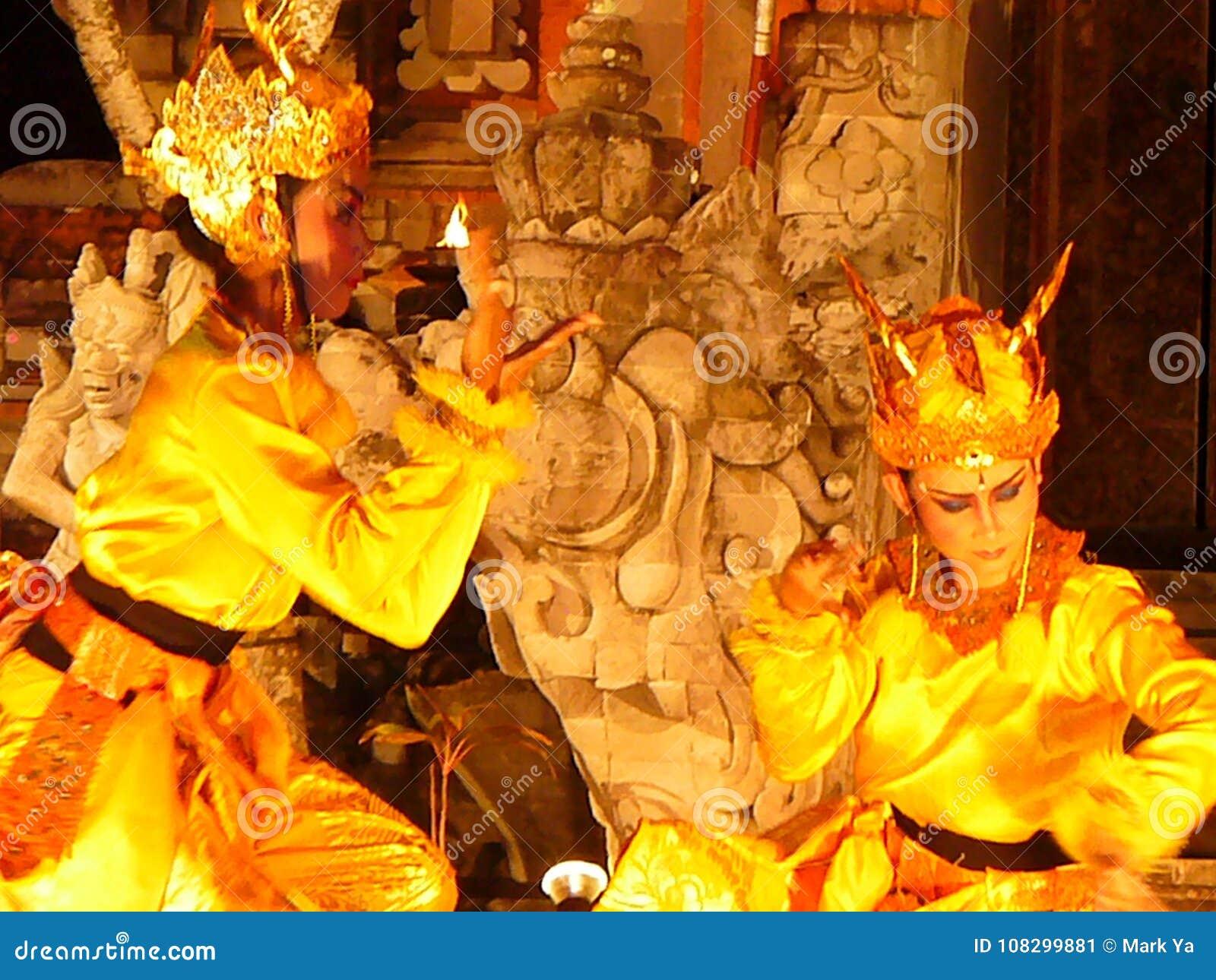 National Balinese Dance Balinese Dancers Editorial Photo Image Of