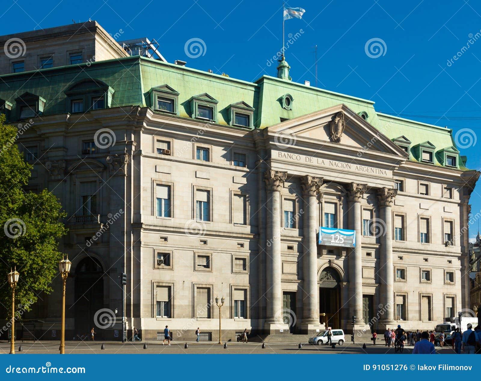 National Bank Von Argentinien Buenos Aires Redaktionelles Foto