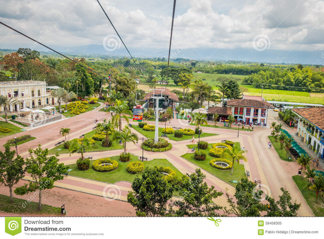 NATIONAL COFFEE PARK, COLOMBIA, Downward view of