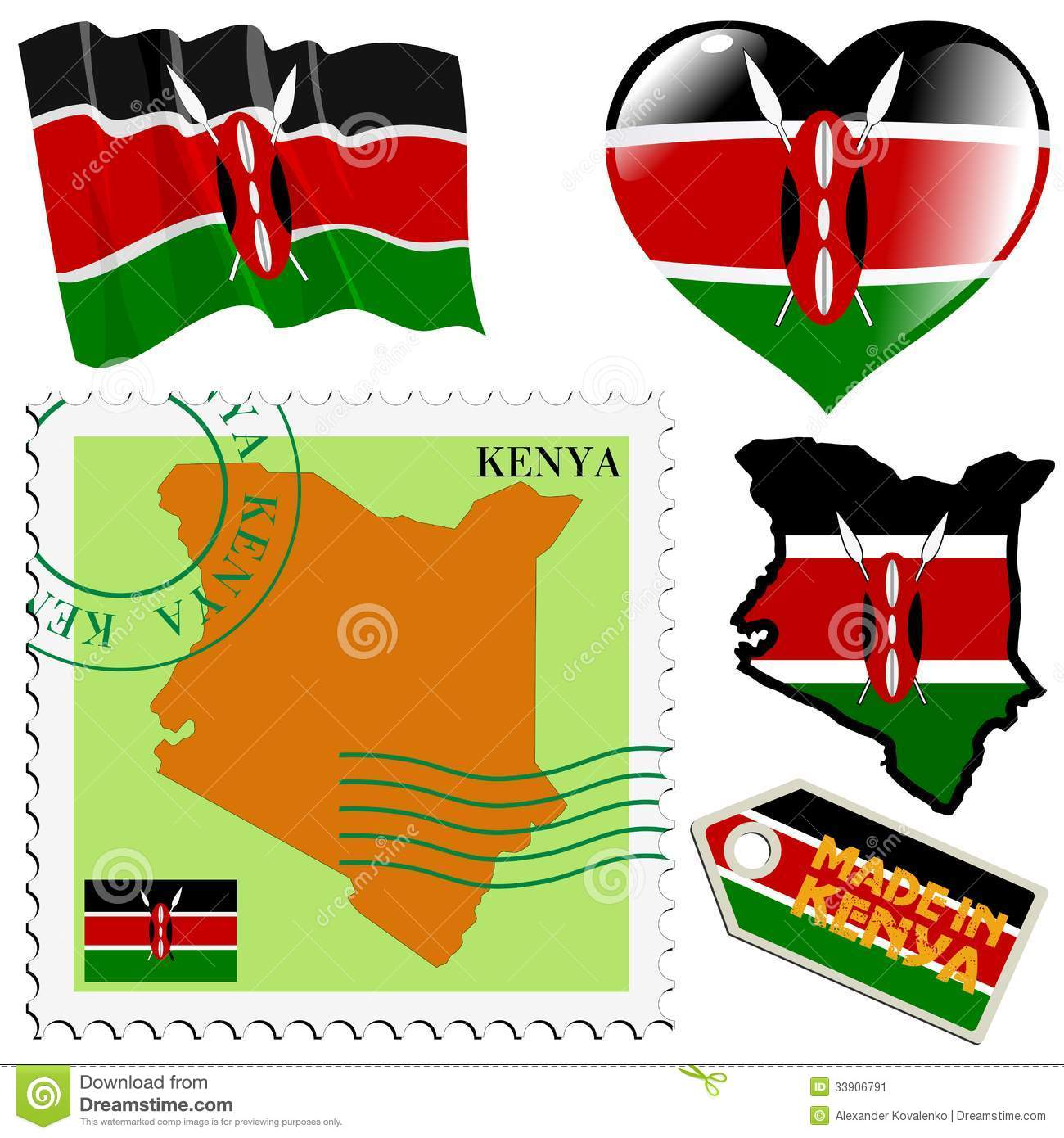 National Colours Of Kenya Stock Vector Illustration Of Collection