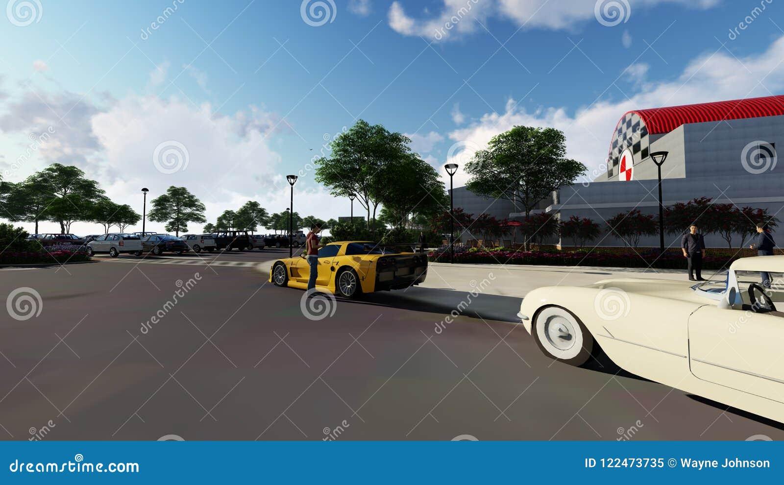 National Corvette Museum >> National Corvette Museum Stock Illustration Illustration Of