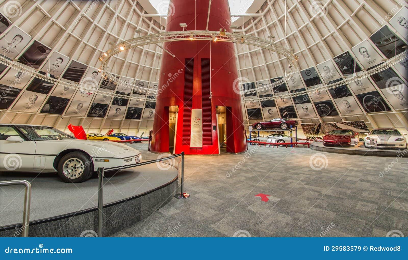 National Corvette Museum >> National Corvette Museum Rotunda Editorial Stock Image