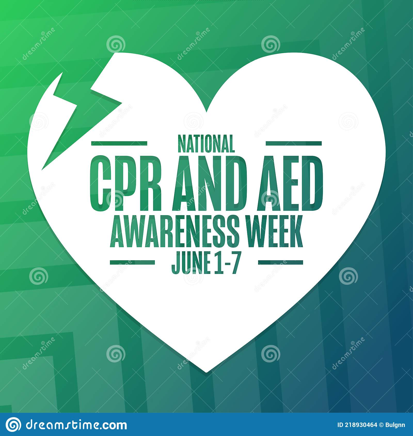 National CPR And AED Awareness Week. Holiday Concept. Template For With Regard To Cpr Card Template