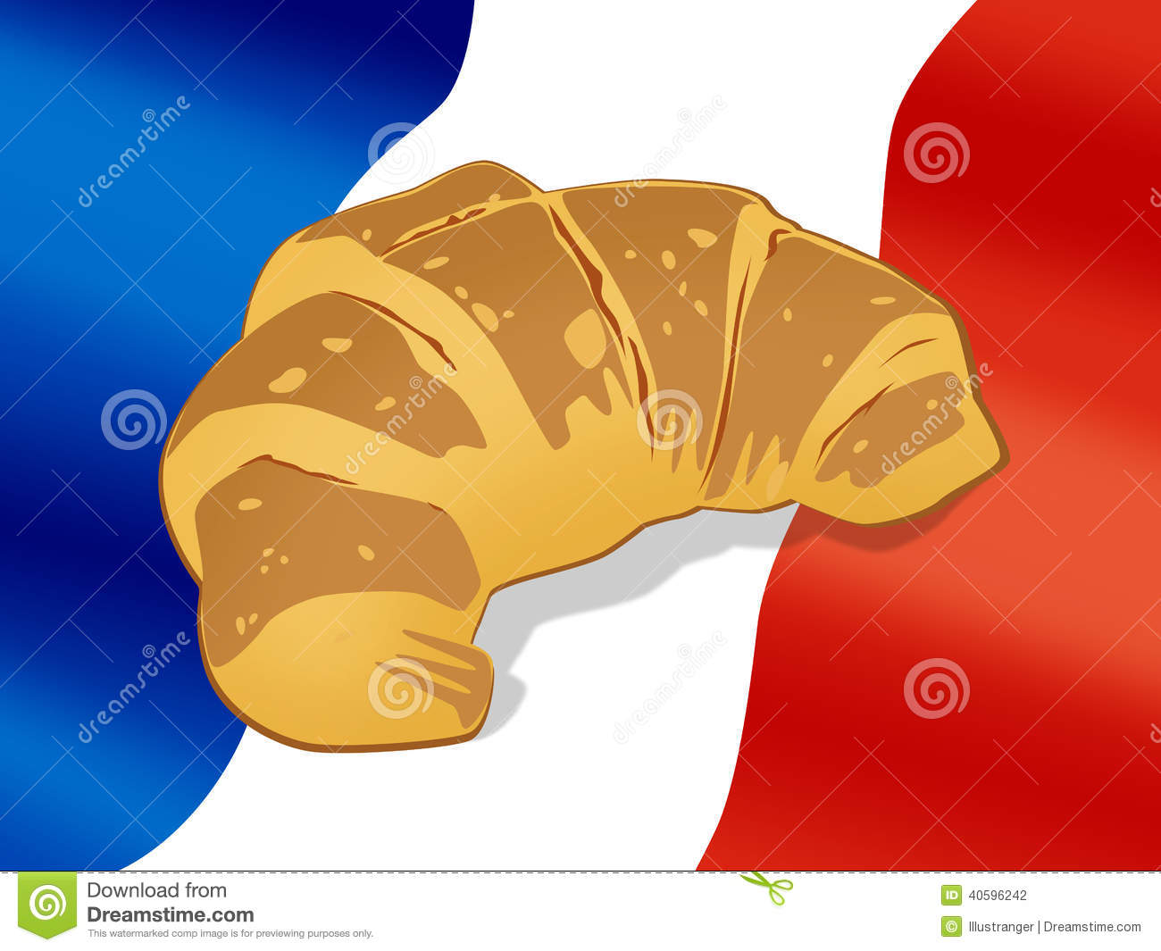 National Cuisine Croissant Stock Illustration Image