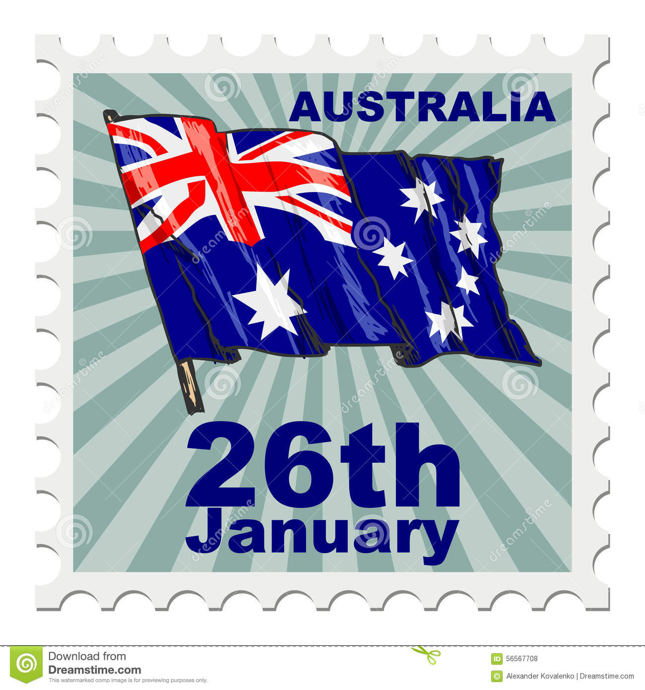 national day of australia stock illustration  image of stamp
