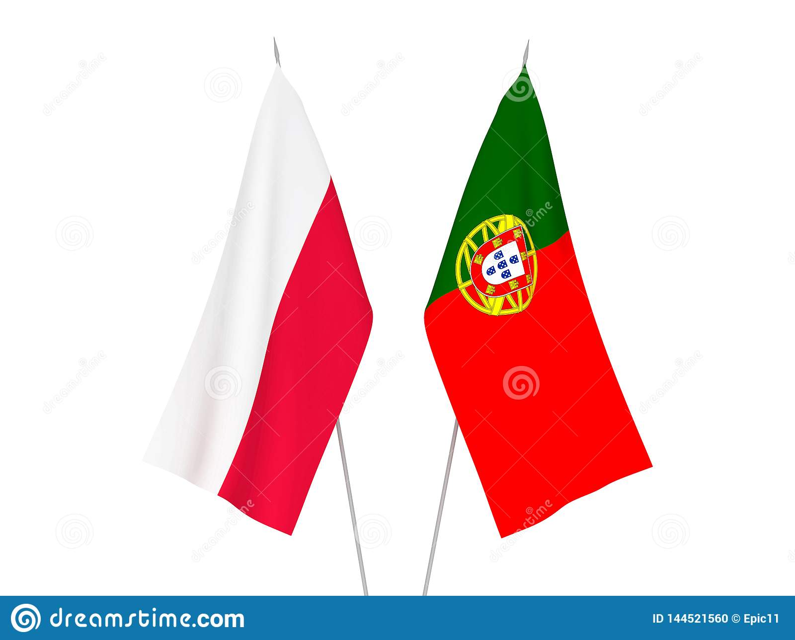 Portugal and Poland flags