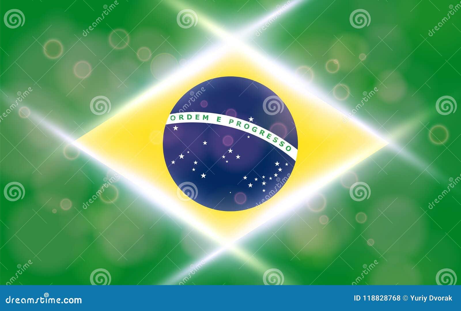 The National Flag Of Brasil Modern Vector Pattern Banner