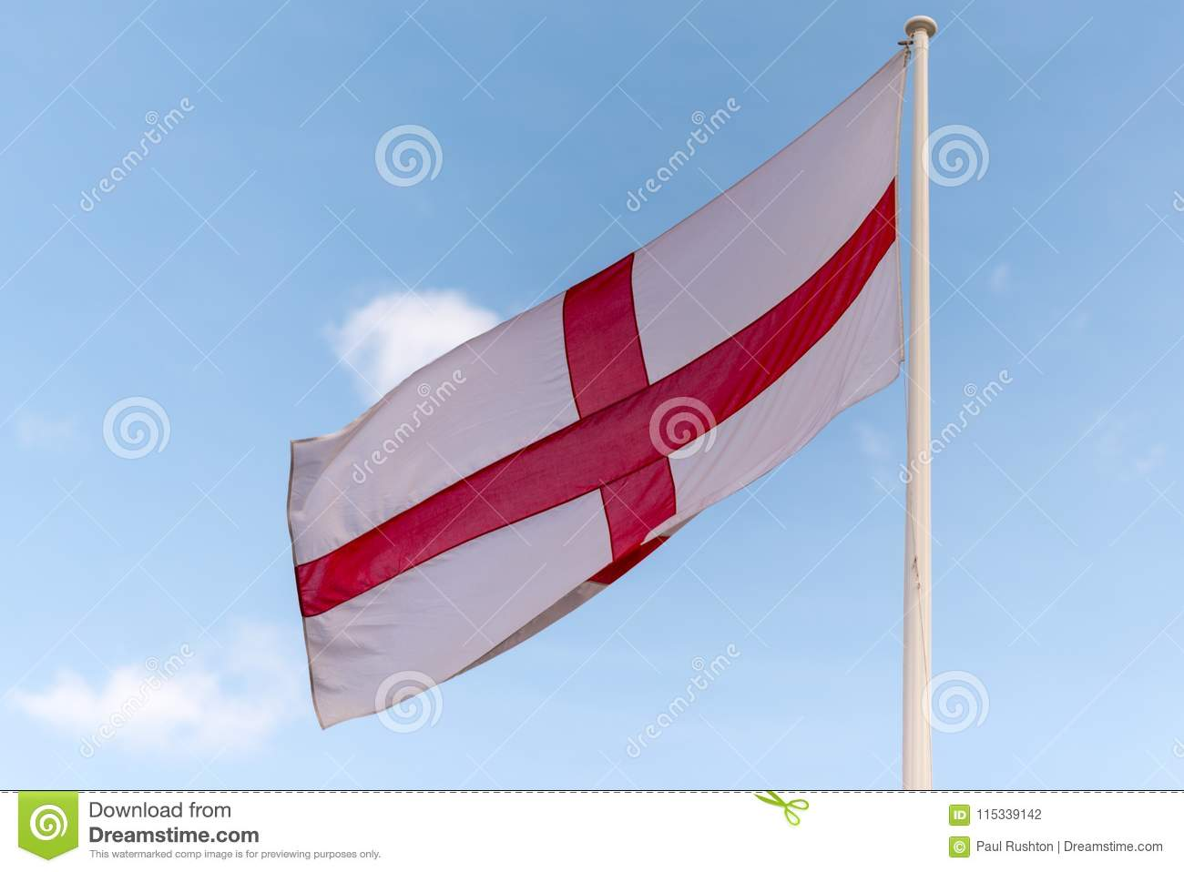 79bb818b English red and white flag stock photo. Image of flag - 115339142