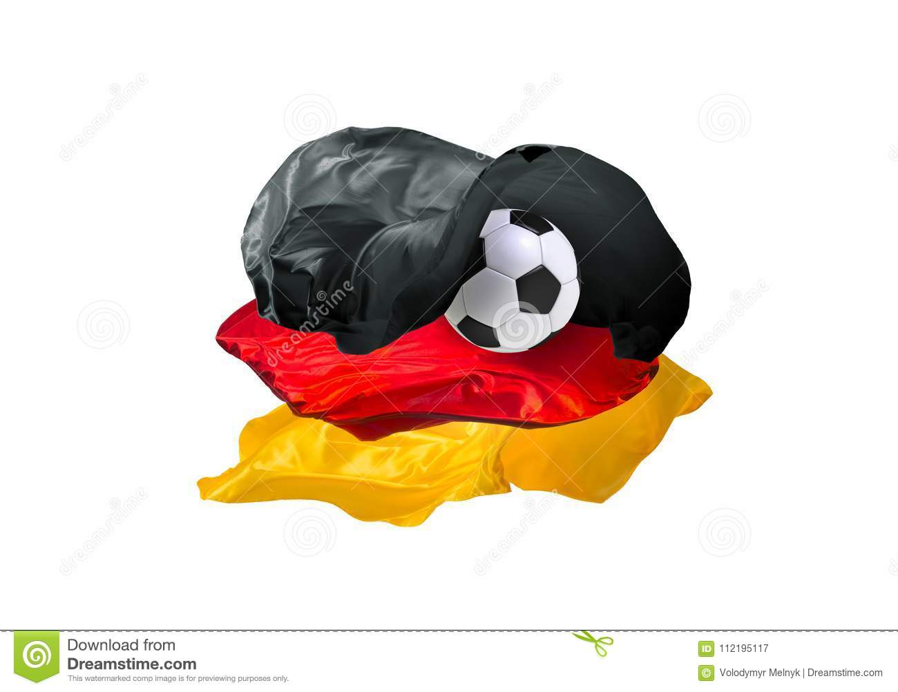 the national flag of germany fifa world cup russia 2018 stock