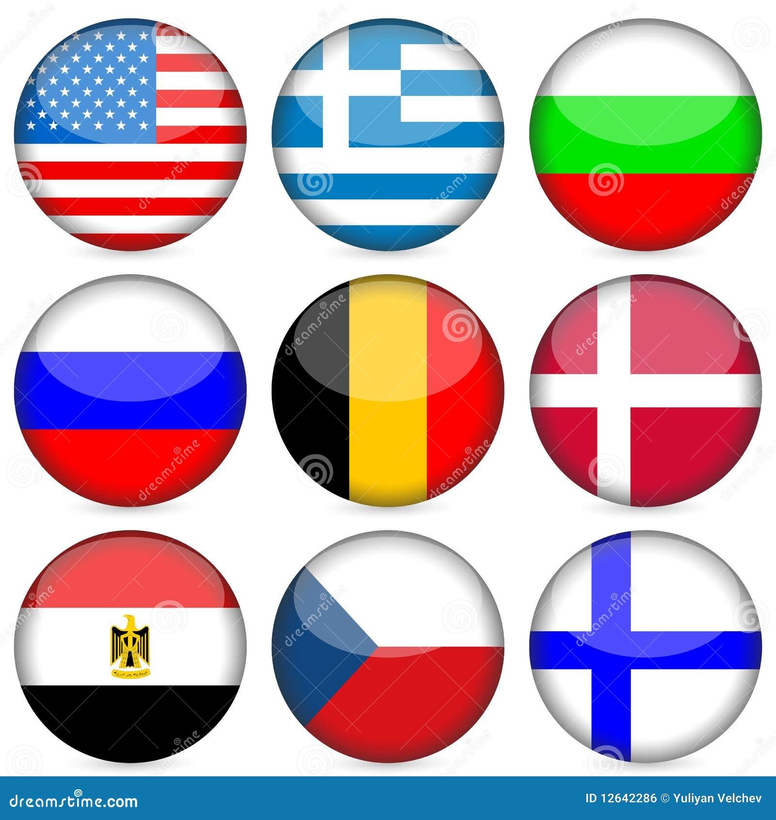 National Flag Icon Set Royalty Free Stock Image - Image: 12642286